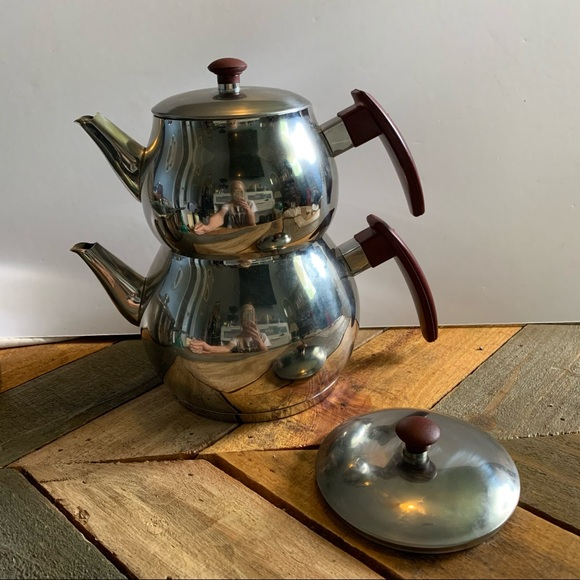 Vintage Traditional Turkish Double Teapot